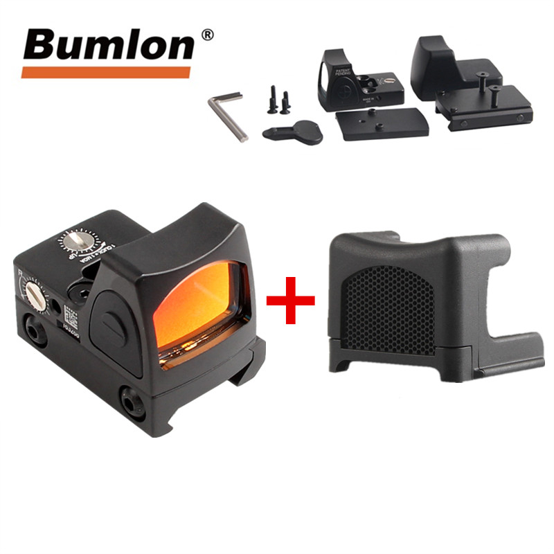 Mini RMR Style Red Dot Sight 3.25 MOA Collimator Glock Reflex Sight Scope Fit 20mm Airsoft Handgun Hunting Tactical 5-0004-2