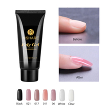 MSHARE Poly Gel Nail Camouflage Nude Clear Polygel French Nails Extension UV Builder Acrylic Gel Hard Acrylgel 60ml mshare poly gel varnish nail 4 pieces 60ml polygel pink white transparent clear builder gel wholesale