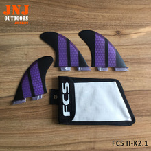 FCS2 surfboard Fins K2.1 Fibreglass Fins Hot Sale FCSII Fins FCS 2 surfing fin with fcs bags
