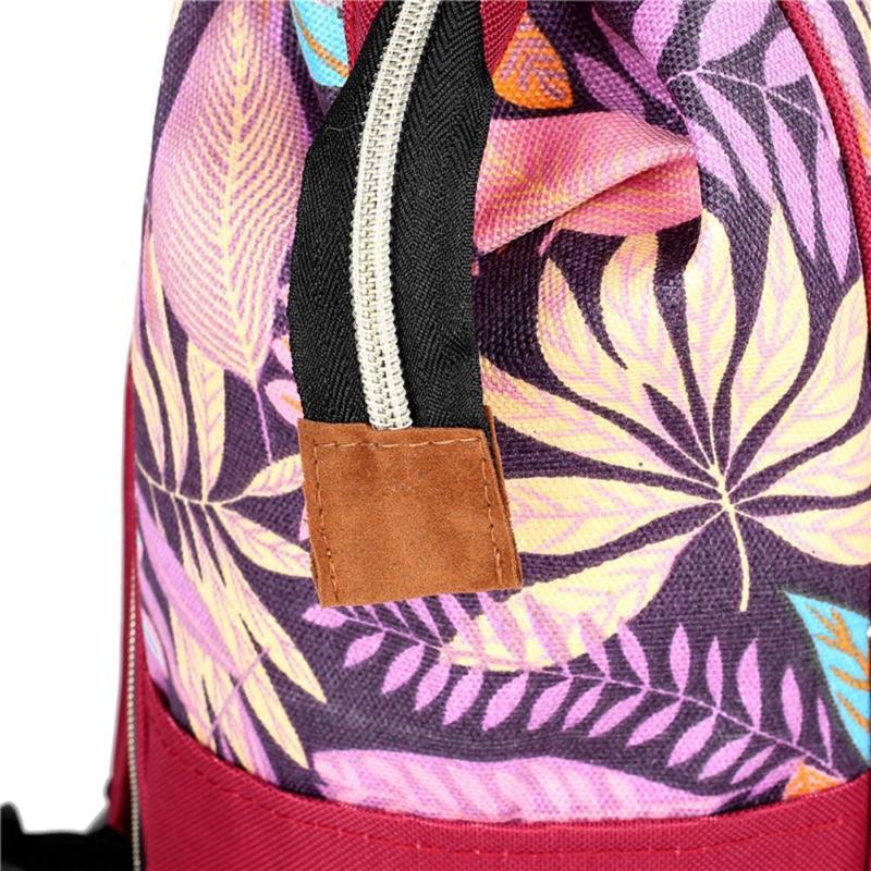 HTB1V1qHSQvoK1RjSZFwq6AiCFXak Large capacity Mummy Maternity Travel Backpacks Nylon Plant Print 2019 Stylish Baby Diaper Shoulder Bags Daily Casual Travel New