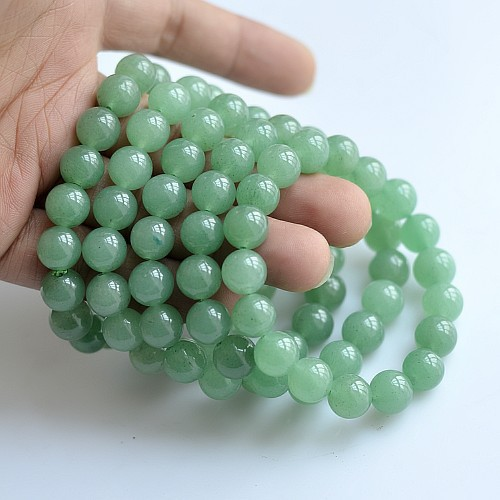 Zertifikat inklusive! Green Natural Green Stone Stein Armbänder Mantra Gebetskette Armband Perlen Armbänder für Frauen Männer