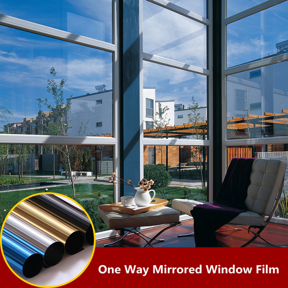Silver Decorative Window Foils One Way Mirror Window Film Home Office Privacy Window Tinting Shade Vinyl With Size 21cmx30cm|Decorative Foil & Tattoos| |  - title=
