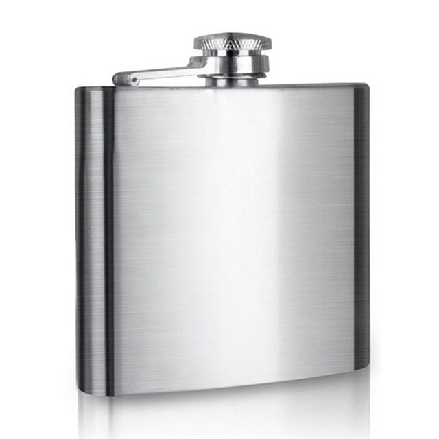 1PC Hip Flasks 5 Oz Stainless Steel Portable Flagon With Funnel Vodka Wine Little Pot Camping Practical Gadget KC1497