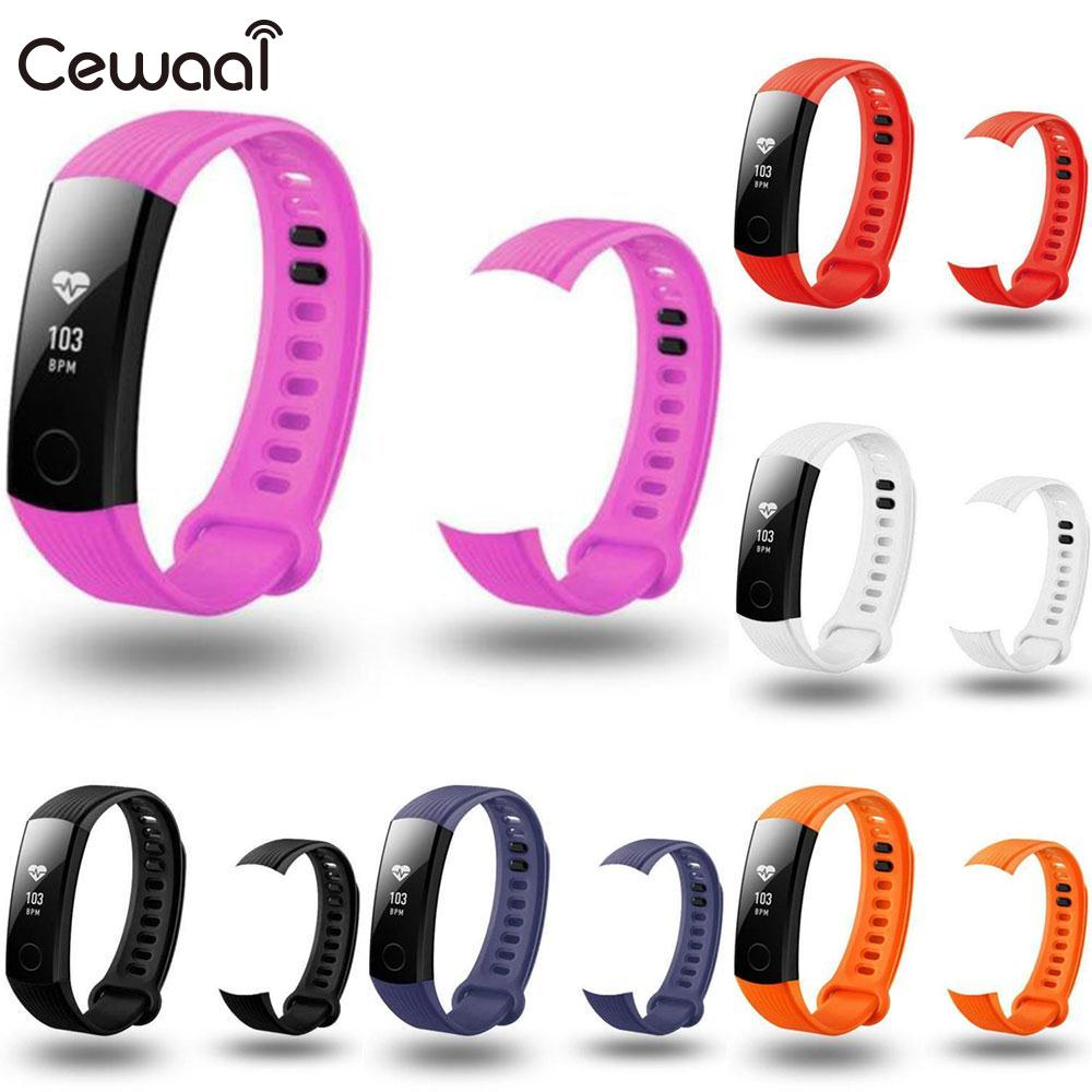 все цены на Cewaal Fashion Replacement Sports TPU Bracelet Soft Strap Wrist Band For Huawei Honor 3 Smart Watch