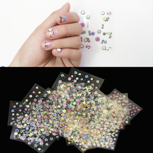 10PCS Sheets/Set 5*6.5cm Mixed Flower Water Transfer Nail Stickers Decals Art Tips Decoration Manicure Stickers Ongles