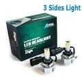 72W 9006 HB4 3 COB Led Headlight H7 H8 H9 H10 H11  HB3 9005 LED Headlight LED headlamp 3 COB  Chip Super Bright