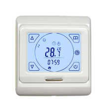 Weekly programming thermostat touch screen dual temperature dual control thermostat for warm floor electric heating controller lx502 heating thermostat temperature control switch plug type carbon crystal electric heater for temperature control