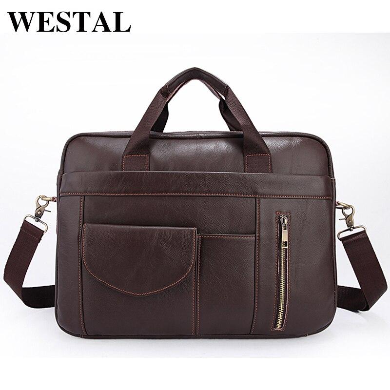 WESTAL сумка мужская натуральная кожа мужская сумка через плечо сумки мужские портфель мужской деловой кожаные портфели для документов конци...
