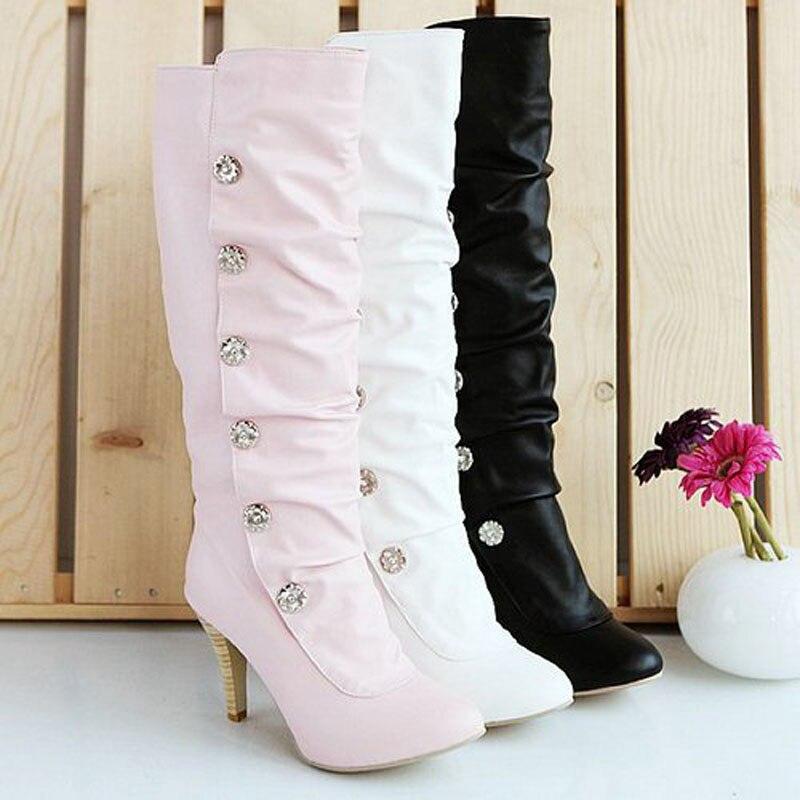Popular Pink High Heel Boots-Buy Cheap Pink High Heel Boots lots ...