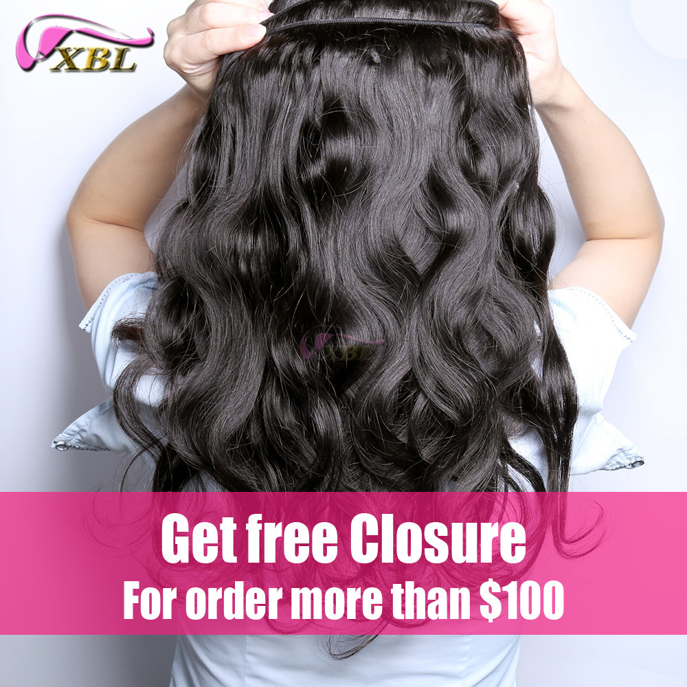 Unprocessed peruvian virgin hair body wave 3pcs #1b human hair weave bundles...