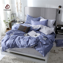 ParkShin Rubber Fitted Queen King Twin Bedding Set Duvet Cover Double Cartoon Bed Linen Elastic Band Euro Home Textiles