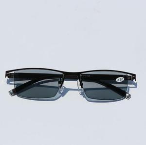 Image 3 - WEARKAPER gafas de lectura fotocromáticas para hombres, gafas de lectura fotocromáticas con marco de aleación de titanio, para presbicia con estuche