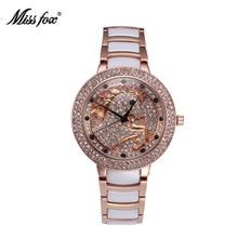 La señorita Fox Manera de Las Mujeres del Reloj de Cerámica A Prueba De Agua De alta gama de Lujo de Diamantes Relojes de Cuarzo Negocio