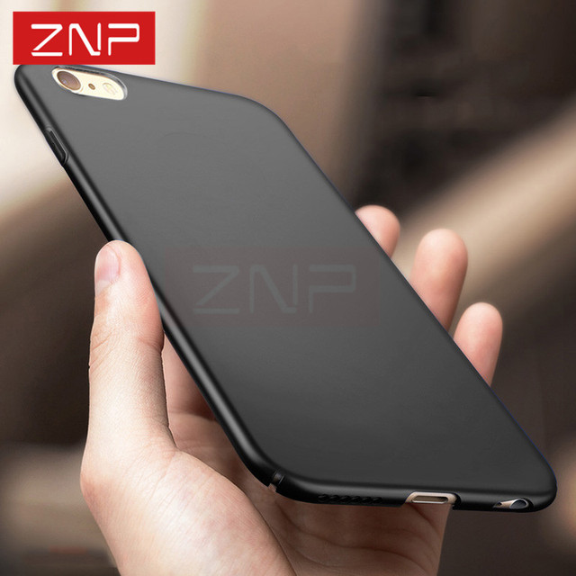 ZNP cover case for Apple iphone 6 6S PLUS Luxury Hard Back Plastic matte Full case for iphone 7 7 Plus Red Cases 6 6S phone bag