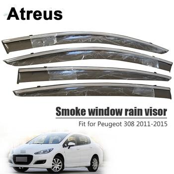 Atreus For Peugeot 308 2011 2012 2013 2014 2015 Car Accessories Door Smoke Window Sun Rain Visor Wind Deflectors Guard Shield
