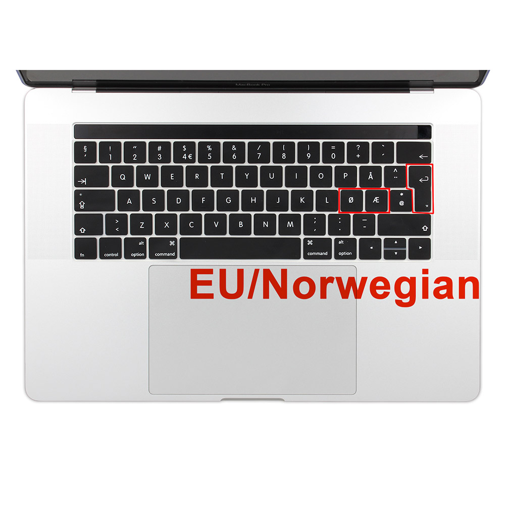 EU Enter Norwegian Silicone Keyboard Cover Keypad Skin for New MacBook Pro 13 15 Retina 2016 & 2017 with TouchBar A1706 A1707 image