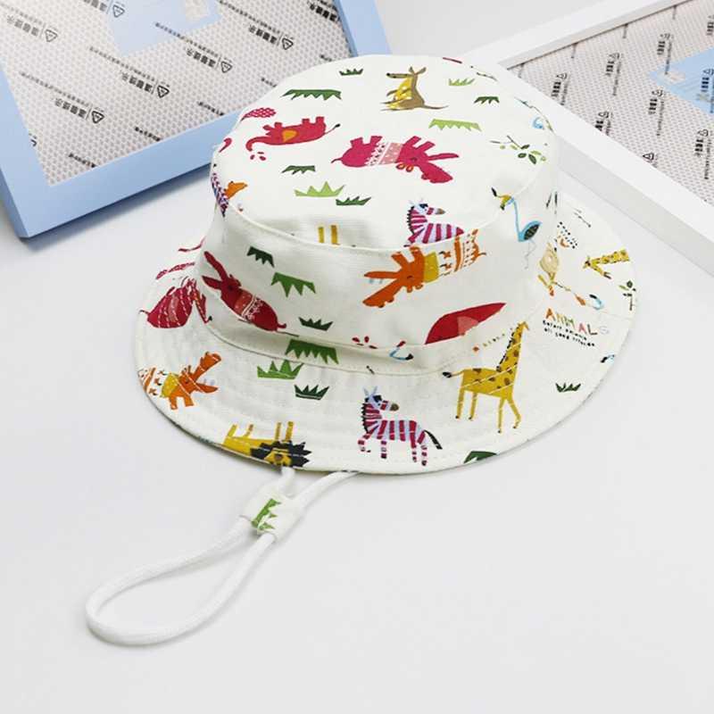 a01b17e6e73 ... Baby Toddler Kids Bucket Hat Baby Toddler Infant Girl Reversible Bucket  Sun Hat UV Protection Children ...