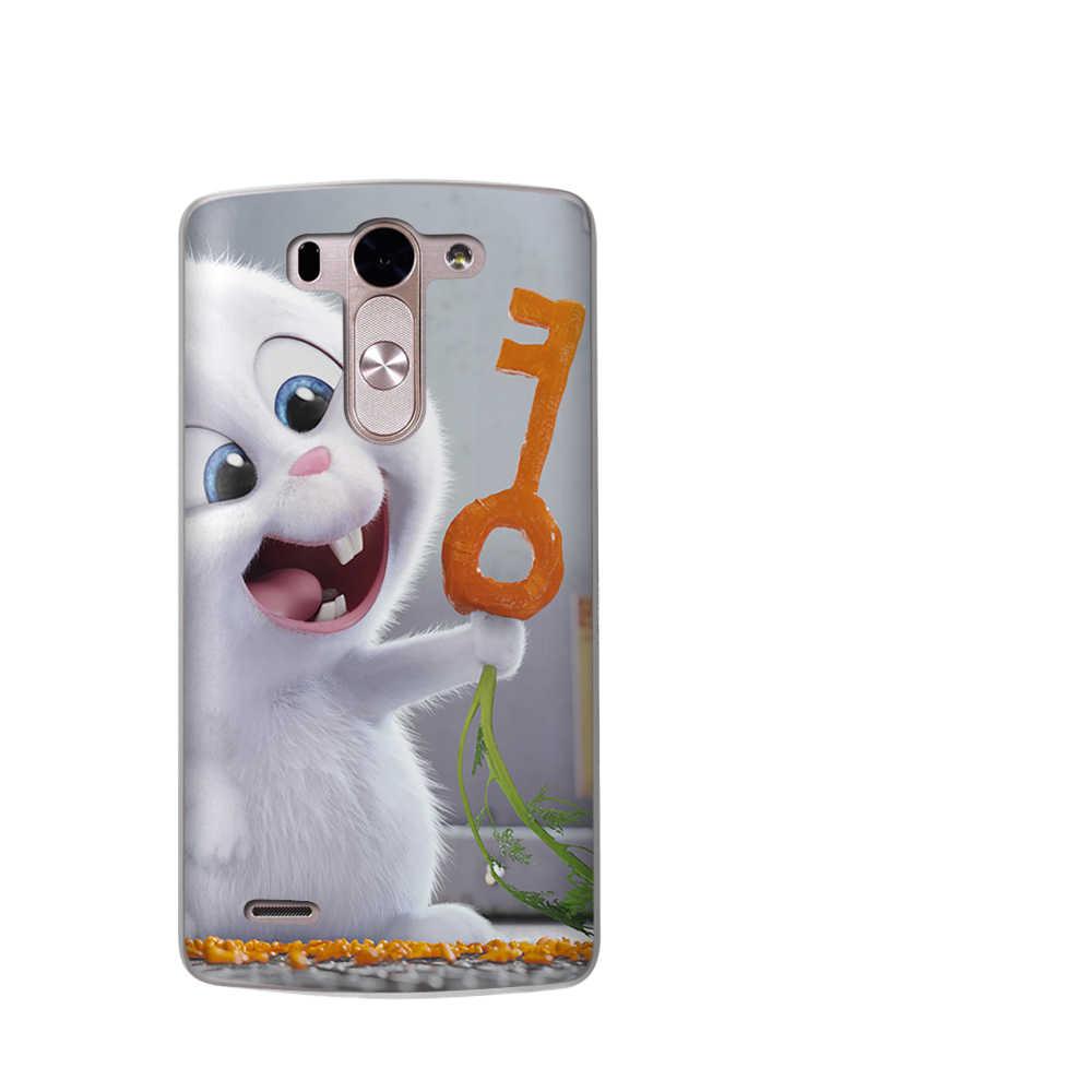 الهاتف حقيبة لجهاز LG G4 G5 G6 كوكه X الطاقة 2 Q6 Q8 K7 K8 K10 2017 الحيوان غطاء أرنب Silicona Casos الفقرة Etui Fundas كابا أكياس