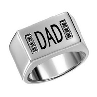 CH 331 hot Luxurious fashionable stainless steel engraved rings, men and women engraved names rings for Valentine's Day