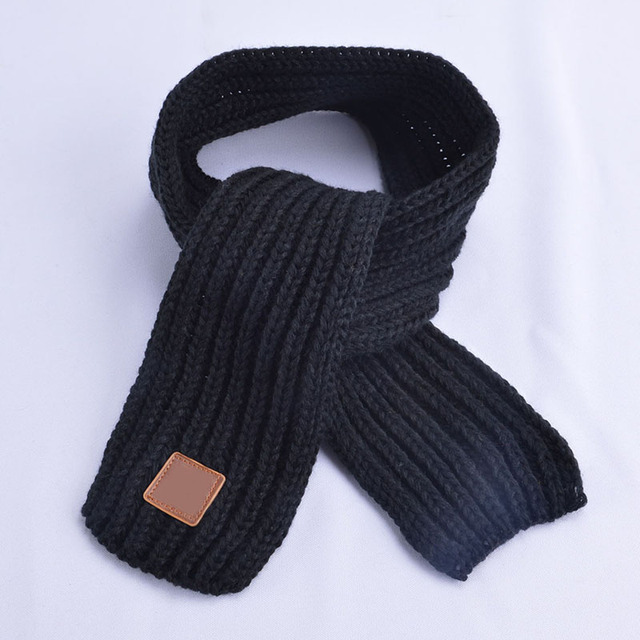 New 2019 Autumn Winter Baby Scarf Boy Girls Knitted Scarf pure color Kids Neck Warmer Scarf Children Scarves