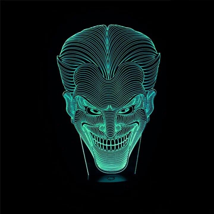 Luzes da Noite 3d personagem do filme rindo Charge : Usb Cable or 3aa Bateria (bateria Not Include)