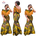 BRW Африканские Платья для Женщин Рукавов Русалка Платья Maxi Dress Long Dress Rinche Плюс Размер Африканских Базен Одежда 6XL WY990