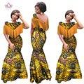 Brw africano vestidos para las mujeres sin mangas de la sirena vestidos maxi dress long dress rinche más tamaño 6xl ropa africana bazin wy990