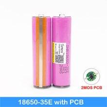 flashlight 18650 35e 3500mAh 18650 protected battery head flashlight bike battery with protected PCB for Turmera jun4