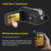 Andoer HDV-D395 3″ WiFi Digital Video Camera 1080P 24M Camcorders w/ 72mm 0.39X Wide Angle+Macro Lens / IR Infrared Night Vision