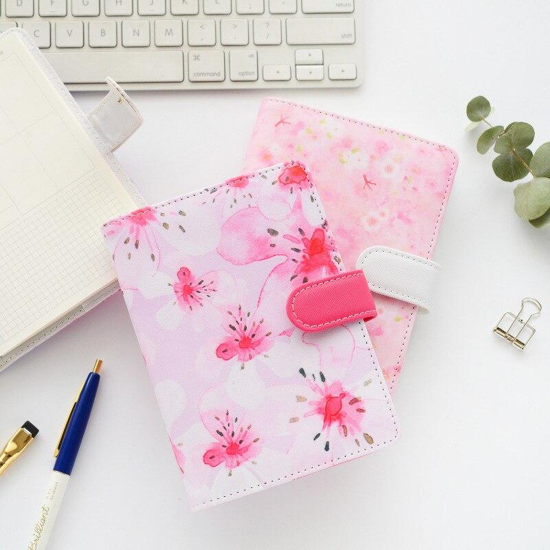 TUTU flower design school student spiral notebooks stationery fine leather personal binder planner agenda organizer A5 G0007