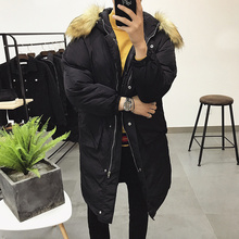 2017 Winter Men's Korean Style Bread Coat Clothes Casual Cotton-padded Thicken Long In Warm Solid Color Parka Snow Jackets M-XL