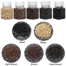 Новинка 500 шт микро-бусины Силиконовое Кольцо Силиконовые соединительные бусины для перьев инструменты для наращивания волос 5 цветов на выбор