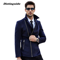 2017 New Fashion Men Brand Clothing Woolen Jacket Coat Male Pea Coats Men Wool Blends