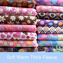 Blanket Soft Flannel Fabric Double Faced 160cm*45cm Fleece Warm Baby Plush Bedsheet Cloth Sofa Cover
