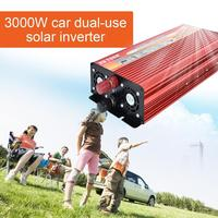 XUYUAN 3000W Solar Car Power Inverter Portable Power Converter Car Charger With High Low Voltage Protection For Home Car