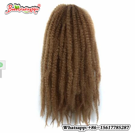 18inch 100g Synthetic Marley Braids Crochet Hair Afro Twist Braiding Hair Extensions Hig ...