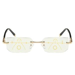 Image 4 - SOOLALA Rimless Progressive Glasses Multifocal Reading Eyeglasses Anti Blue Light Glasses Diamond Cutting Presbyopic Spectacles