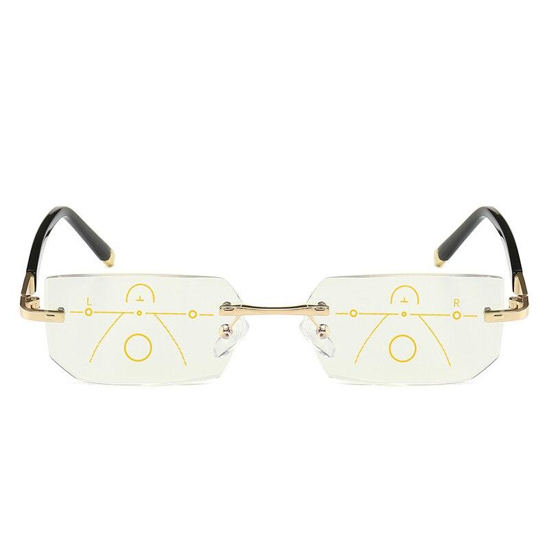 Image 4 - SOOLALA, без оправы, прогрессивные очки, Мультифокальные очки для чтения, анти синий светильник, очки, алмазная резка, очки для дальнозоркости-in Женские очки для чтения from Аксессуары для одежды on AliExpress - 11.11_Double 11_Singles' Day