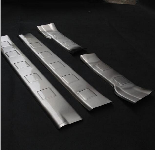 Pour Nissan x-trail X Trail T31 2008 2009 2010 2011 2012 2013 acier inoxydable seuil de porte intérieure plaque de seuil garniture accessoires de voiture