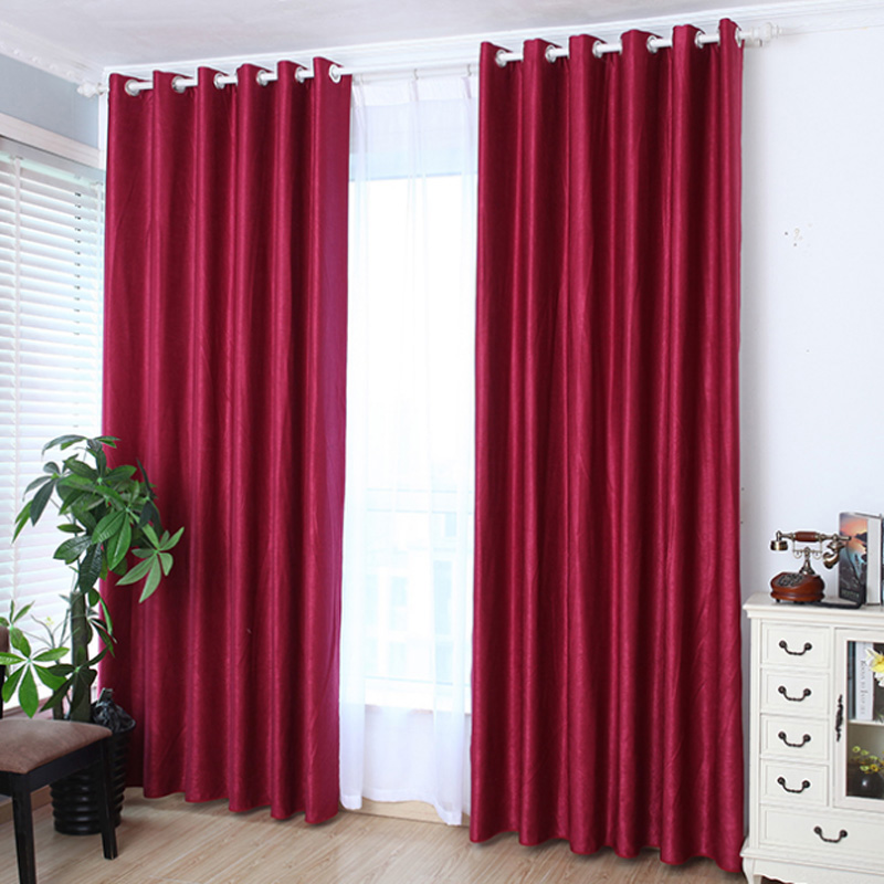 1pcs grommet window curtain bed room valances window curtains shade traverse pull purdah sun blocked living