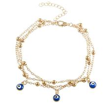 2018 New Turkish Eyes Beads Anklets For Women gift 2017 Sandals Pulseras Tobilleras Mujer Pendant Anklet Bracelet Foot Jewelry стоимость