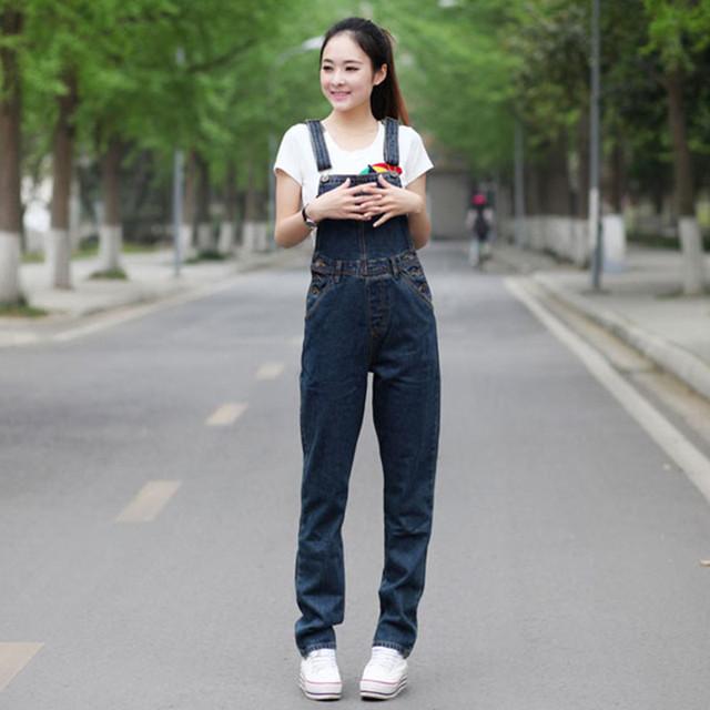 Envío Gratis 2017 Nuevas de La Manera Recta Pantalones Para Las Mujeres Más tamaño XL 5XL Alta Calidad Pantalones Denim Jeans Monos Y mamelucos