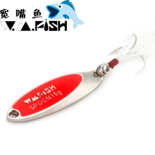 Free shipping fishing lure spoon metal bait 7.5g-20g bass lure carp fishing wobblers fly fishing spinner bait fishing tackle