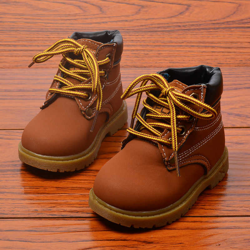 Осенние зимние детские ботинки Ботинки martin для малышей детская обувь для мальчиков и девочек зимние ботинки модные плюшевые ботинки для девочек и мальчиков размер 21-30