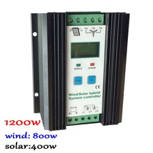 Wind Solar Hybrid Controller 80A 1200W  MPPT Solar Power 400W, Wind Generator 800W, 12V 24V Intelligent Hybrid Charge Controller 800w mppt wind solar hybrid charge controller 12 24v auto for 500w wind 300w solar with booster and dump load