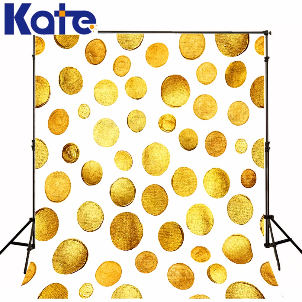 Kate 5x7ft Gold New Born Photography Bokeh Dots School Washable Photo Backdrop For Children Backgrouds Photo Studio YY00383 allenjoy backdrop spring background green grass light bokeh dots photocall kids baby for photo studio