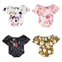 Infant Baby Romper Jumpsuit One-shoulder Print Photography Clothing Triangle Haber Newborn Photograph Props
