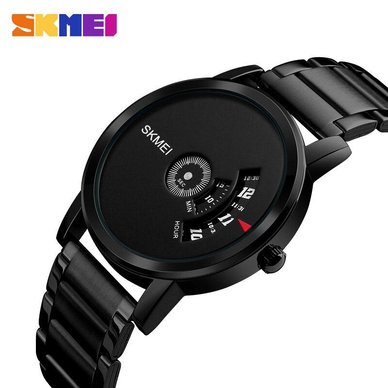 5cae542a4c21 SKMEI hombres Reloj de Cuarzo Resistente Al Agua Relojes de Primeras Marcas  de Lujo de Moda de Acero Completo Relojes de Pulsera Hombre Reloj Relogio  ...