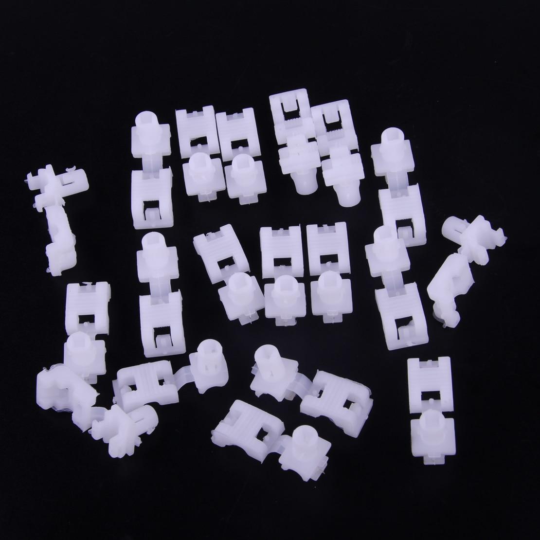 Beler 20pcs White Nylon Tailgate Handle Lock Rod Retainer