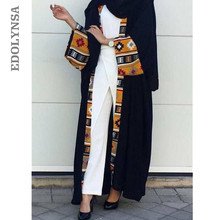 Black Pink Front Open Abaya In Dubai Kimono Patchwork Long Sleeve Maxi Moslem Dress Evening Morocco Caftan Arabic Style Aue D540(China)